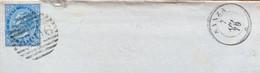 CAMPANIA - SANZA 7 APR 79  D.c.+ BARRE Su 10 C.    - PIEGO  PER SALERNO CON TIMBRI AL RETRO - Marcophilie