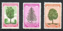DOMINICAINE. N°449-50 + PA 104 De 1956-7. Reboisement. - Alberi