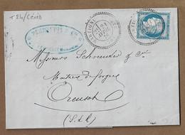 MARTIGNY LE COMTE : 1876 : + Cachet à Date  Type 24 Sur N° 60 ( 25c Cérès )   :  ( Saône Et Loire ) : - 1849-1876: Periodo Classico
