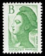 France Liberté De Gandon N° 2483 ** Marianne - Lettre B Le Vert à 2.00 Frs - 1982-90 Vrijheid Van Gandon