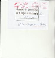 Z1 - Enveloppe Avec Flamme Base Aérienne  TOUL - Bolli Militari A Partire Dal 1940 (fuori Dal Periodo Di Guerra)