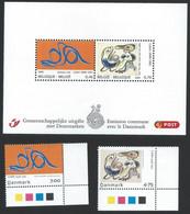 Z0218 - BELGIE - BELGIUM - 2006 - BLOK 135 - TOGETHER WITH DENMARK - VELLETJE + ZEGELS - SHEET + STAMPS - Nuevos