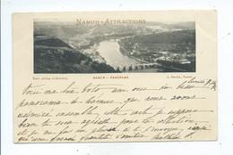 Namur Attractions Panorama ( Cachet 1896 ) - Namur