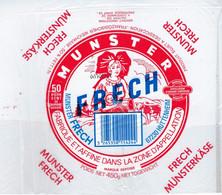 "Etiquette Fromage Munster Frech  50%mg 450g  Huttenheim 67 "" Femme Alsace"" - Formaggio"