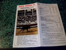"""Vieux Papier Programme Officiel Tauromachie Corrida """" Dax Féria 83  """" , Août 1983 - Programma's"""