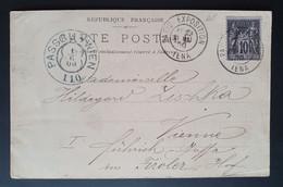 Frankreich 1900, Postkarte PARIS EXPOSITION IENA Gelaufen WIEN - Storia Postale