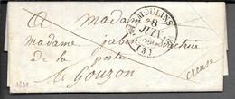 LETTRE AVEC CACHET TYPE 12 MOULINS 1830 - 1801-1848: Vorläufer XIX