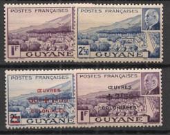 Guyane - 1941-44 - N°Yv. 172 - 173 - 177 - 178 - Pétain - Complet - 4 Valeurs - Neuf Luxe ** / MNH / Postfrisch - Ungebraucht