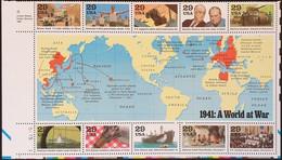 1991 World War II, World At War Souvenir Sheet, Mint Never Hinged - Unused Stamps