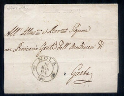 1864 - LETTERA  COMPLETA DI TESTO INTERNO DALLA CURIA VESCOVILE DI NOLA A GAETA (PREF48) - Marcophilie