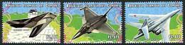 Comores Comoros 1999 Dassault Rafale, Lockheed-Martin F-117 Nighthawk, Tupolev Tu-160 Blackjack Warplanes - Airplanes