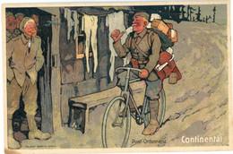 Continental Karte. Fahrrad Velo  .Post .14-18.WWI - Guerra 1914-18