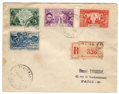 Martinique : Fort De France : Lettre Recommandée: Expo.Col. Paris 1931: No 129/132 - 1931 Exposition Coloniale De Paris