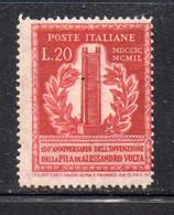 744 490 - ITALIA 1949 , Volta 20 Lire N. 611  *  Linguella Invisibile - 1946-60: Nieuw/plakker
