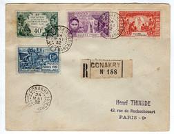 Guinée Française : Conakry : Lettre Recommandée: Expo.Col. Paris 1931: No 115/118 - 1931 Exposition Coloniale De Paris