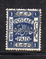 761 490 - PALESTINA , 1 Piastra Blue Usato - Palestina
