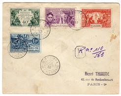 Nouvelle Calédonie : Nouméa : Lettre Recommandée: Expo.Col. Paris 1931: No 162/165 - 1931 Exposition Coloniale De Paris