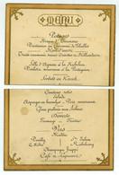 Menu XIXe Du Restaurant Ledoyen (coupé En Deux) . Circa 1880 . - Menus