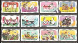 FRANCE 2020 Y T N ° 1873/1884 Série Complète Oblitérée CACHET ROND VACANCES - Used Stamps