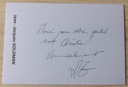 Jean - Jacques GOLDMAN - Dédicace - Hand Signed - Autographe Authentique - Singers & Musicians