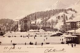 Cartolina - Svizzera - St. Moritz - Kulm Links And Kulm Hotel - 1903 - Sin Clasificación