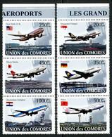 Comores Comoros 2008 Great Airports, Airbus A380, A-320, Boeing 757, 737, 747, Schipol, Pékin, Singapore, Narita - Airplanes