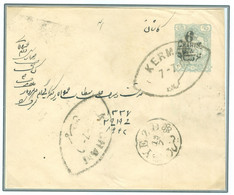 Persia - Persien - Iran - Middle East 1909;  Stamped Postal Envelope,  Persiphila# PE12    (6ch On 10 Chahis) - Irán