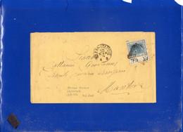##(DAN2101)-IItalia 1874-Busta Da Milano Per Mantova Affrancato Con 20 Cent. Effigie Bordo Di Foglio - Marcophilie