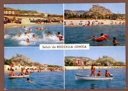 °°° Cartolina - Saluti Da Roccella Jonica Vedute Viaggiata (l) °°° - Reggio Calabria