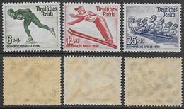 Germania Deutsches Reich 1935 Winter Olympic Games Mi N.600-602 Complete Set MNH/MH **/* - Ongebruikt