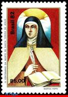 Ref. BR-1819 BRAZIL 1982 FAMOUS PEOPLE, ST. THERESA OF AVILA,, PORTRAIT, RELIGION, MNH 1V Sc# 1819 - Nuevos