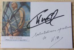 Kim CLIJSTERS - Dédicace - Hand Signed - Autographe Authentique - Tennis