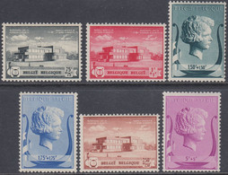 Belgium 1940 - Queen Elizabeth's Music Foundation - Mi 529-534 ** MNH - Unused Stamps