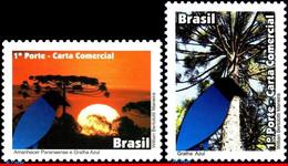 Ref. BR-3203-04-DP BRAZIL 2011 BIRDS, DAWN PARANA, BLUE, JACKDAW, BIRDS, DEPERSONALIZED MNH 2V Sc# 3203-3204 - Unused Stamps
