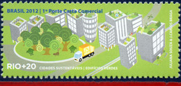 Ref. BR-3218H BRAZIL 2012 ENVIRONMENT, RIO+20, UNITED NATIONS,, SUSTAINABLE CITIES, TRUKS, MNH 1V Sc# 3218H - Camions