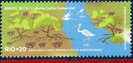 Ref. BR-3218S BRAZIL 2012 ENVIRONMENT, RIO+20, UNITED NATIONS,, PRESERVATION OF BIODIVERSITY, BIRDS, MNH 1V Sc# 3218S - Storks & Long-legged Wading Birds