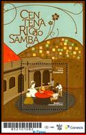 Ref. BR-V2017-05 BRAZIL 2017 MUSIC, CENTENARY OF SAMBA,, DANCE, SOUVENIR SHEET MNH 1V - Nuovi