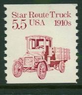 USA Scott # 2125 1986  American Transportation - 5.5¢Star Route Truck   Mint Never Hinged  (MNH) - Nuevos
