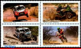 Ref. BR-V2019-19 BRAZIL 2019 AUTOMOBILES, SERTOES RALLY, RACE, CAR,, MOTO, MOTORCYCLE, AUTO RACING, SET MNH 4V - Automobili