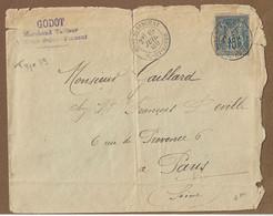 MONT St VINCENT  : 1889 : Cachet à Date Type 19 Sur Sage 15c Bleu  :  ( Saône Et Loire ) : - 1877-1920: Periodo Semi Moderno