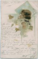 FEMME ART NOUVEAU   - Precursseur Circulée 1909 - Ante 1900