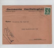 REF3207/ TP 340 S/L. Gemmente Herffelinghen C. Herffelinghen 1935 > Auderghem - Cartas