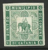 CATANIA 5 C DIRITTO MARCA DA BOLLO COMUNALE, REVENUE MUNICIPAL STAMP. Rif. 48 - Otros
