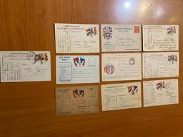 Lot De 10 Cartes Correspondance Des Armées De La République - Carte En Franchise - Militaire Kaarten Met Vrijstelling Van Portkosten
