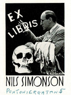 1 Ex Libris NILS SIMONSON SUEDE  MAGICIAN MAGIE - Zonder Classificatie