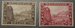 BEL 1928 / 265-6 / ** / (130€) : 5F&10F De La Première Orval - Eerste Orval - Unused Stamps