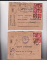 Marcophilie- 2 LR- Valeur à Recouvrer - Pour FRANSVILLE & ONDUA- Tunisie En 1936 - Unclassified