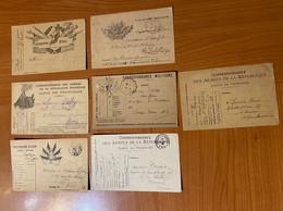 Lot De 7 Cartes - Franchise Militaire - Militaire Kaarten Met Vrijstelling Van Portkosten