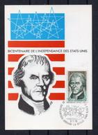 YT N° 255 / ANDORRE / FDC / CP 1er JOUR THOMAS JEFFERSON - Cartas