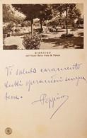 Cartolina - Giardino Dell'Hotel Bellavista & Palace - Montecatini Terme - 1933 - Pistoia